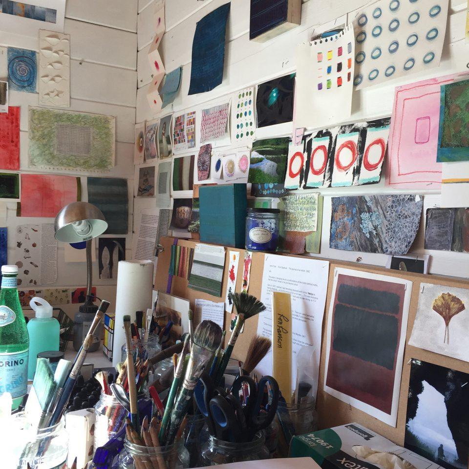 Anna's studio corner, 2019